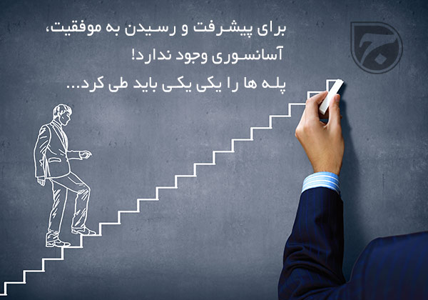 آسانسور یا پله های گام به گام موفقیت!